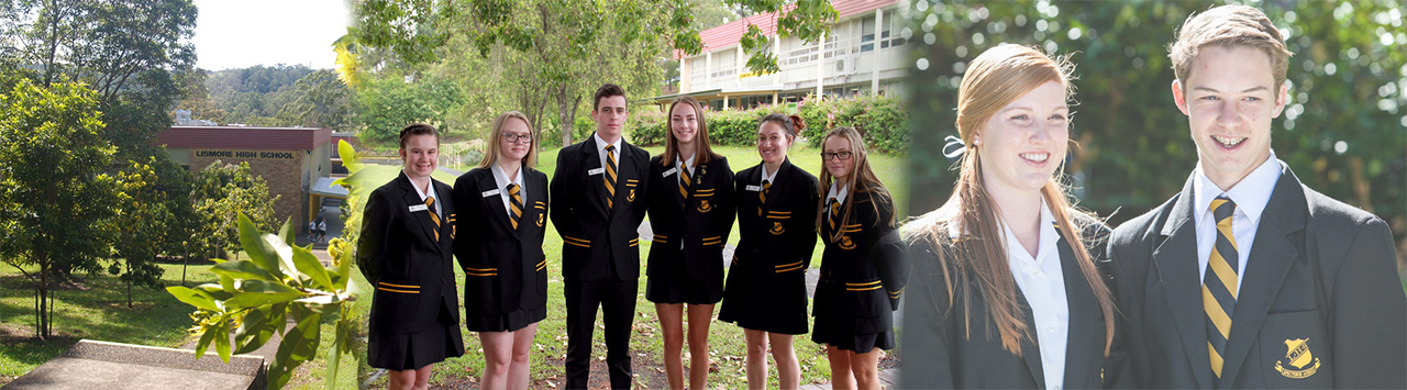 Collage of The Rivers Secondary College - Lismore High Campus students